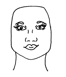O Formato de Rosto Quadrado